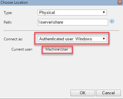 UNC path fails with Windows authentication - GleamTech